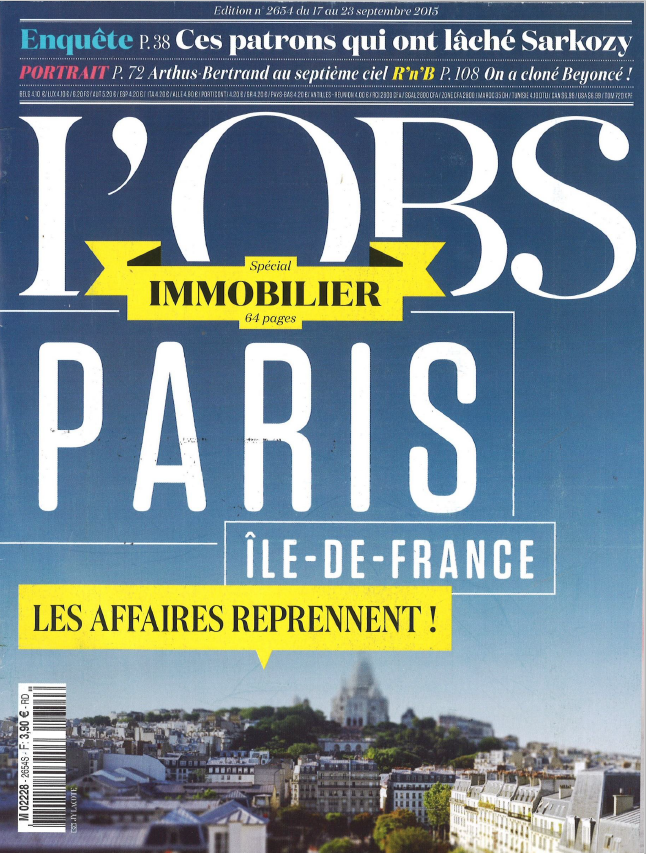 L'OBS IMMOBILIER SEPTEMBER 2015